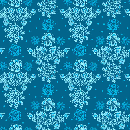 Floral Seamless Texture, endless pattern with flowers. Seamless pattern can be used for wallpaper, pattern fills, web page background, surface textures. Seamless pattern with snowflakes.