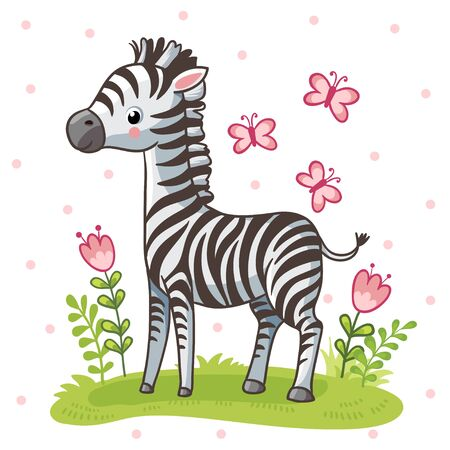 Vector illustration in a childrens style on a white background.