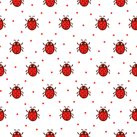 Yellow ladybug pattern royalty free cliparts vectors and stock vector seamless pattern with red ladybug background with insects vector stopboris Images
