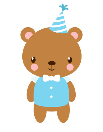hubcap: Cute vector bear in the cap. Picture with a beautiful animal in a childrens style.