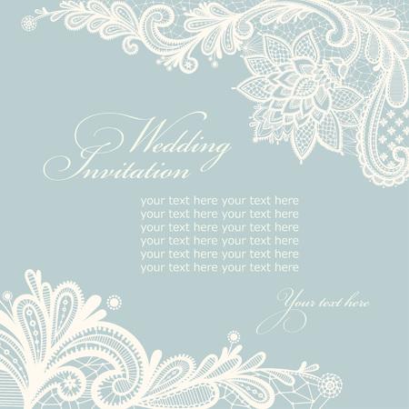 Template frame design for wedding invitation. Vector illustration Illustration