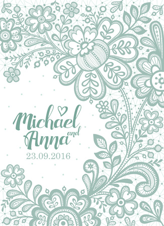greeting card background: Floral Background Lace. Wedding invitation card. Vector greeting card.
