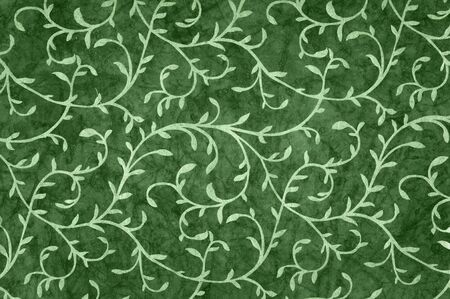 mixed wallpaper: Illustration with curly leaves pattern.