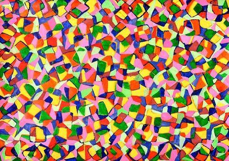 mosaics from watercolor  Imagens