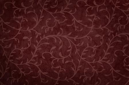 blackout: Illustratie met krullend laat patroon donkerrode kleur met schaduw.