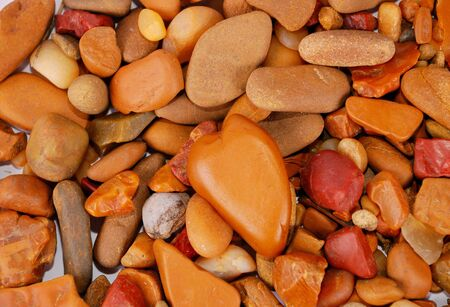 Natural pebbles background. Stock Photo