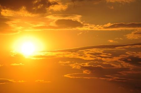 sunset photo Stock Photo