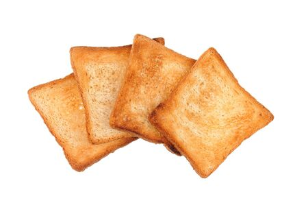a few of toast bread isolated photo