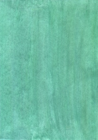 Abstract fully green watercolor background on a paper