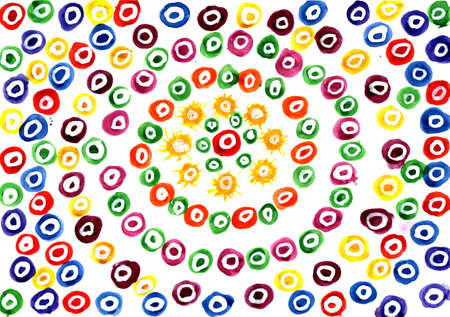 Color pattern with circles. Stock Photo
