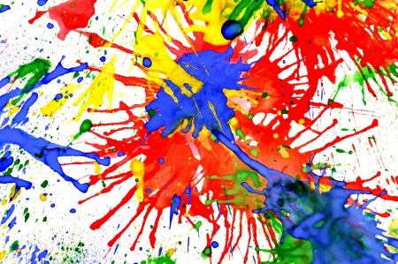 watercolor explosion drops on paper. isolated
