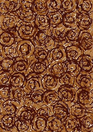 contrast resolution: Abstract brown circle background from watercolor Stock Photo