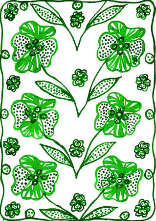 green floral watercolor as background Imagens - 39790845