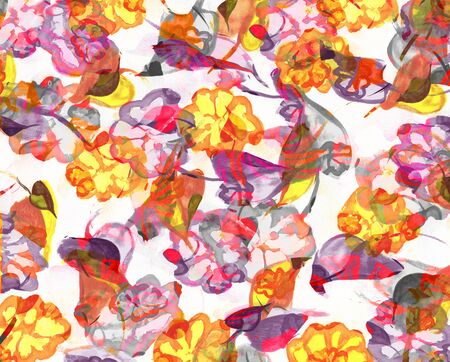 Background with watercolor flowers illustration. Imagens - 40033564