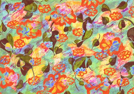 Floral watercolor as background illustration. Imagens - 40033562