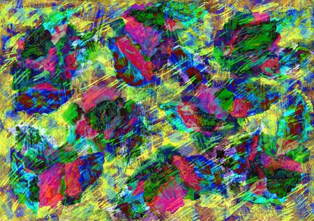 contrast resolution: Bright acrylic background on a paper with strokes.