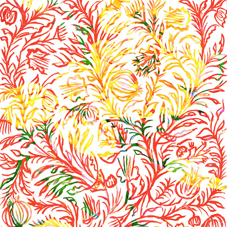 the Hand drawn floral ornament. Imagens - 42002096