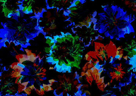 Night flowers art design  as background Imagens - 44391313