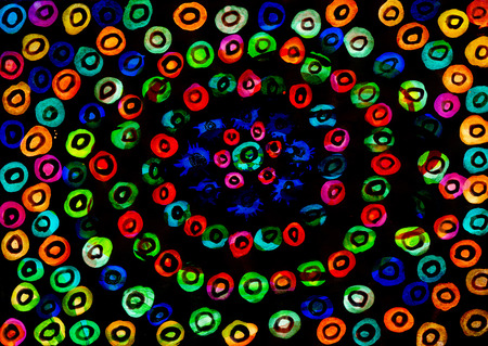 contrast resolution: Abstract dark circle  as background