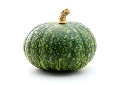 Bright green autumn squash isolated on white Stock Photo