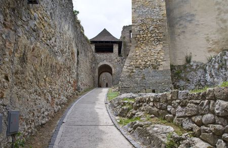 The Gates through time to old castle photo