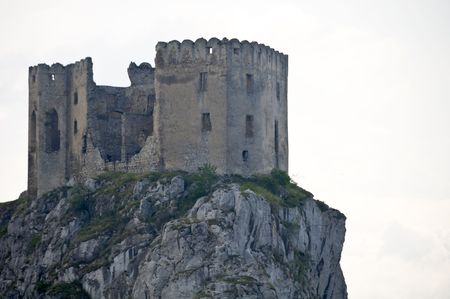 Old castle on the rock in Slovakia photo