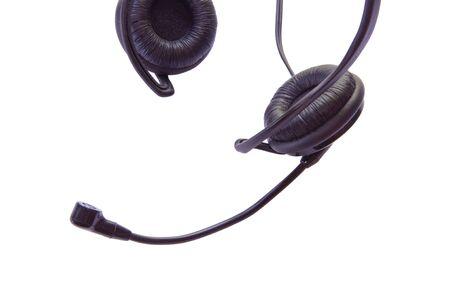 earbud: Earbud Headphones isolated on white background Stock Photo