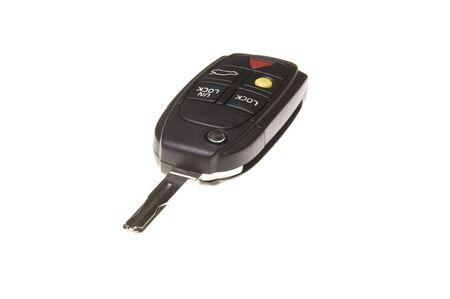 car key isolated on white background photo