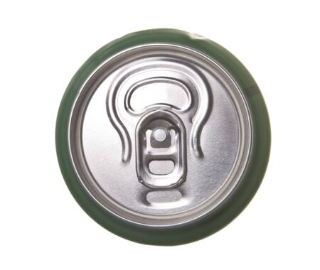 pulltab: beer can isolated on white background Stock Photo