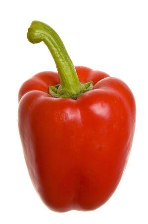 fresh red  paprika isolated on white background
