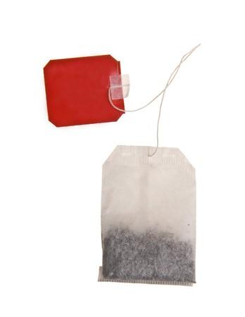 teabag isolated on white background photo