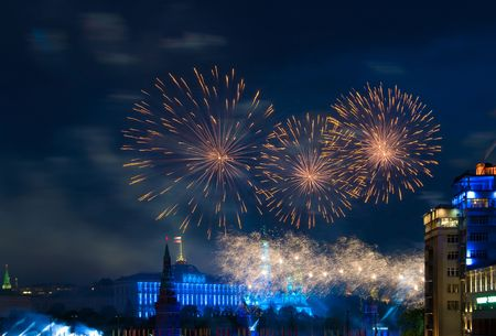 Firework over Moscow photo