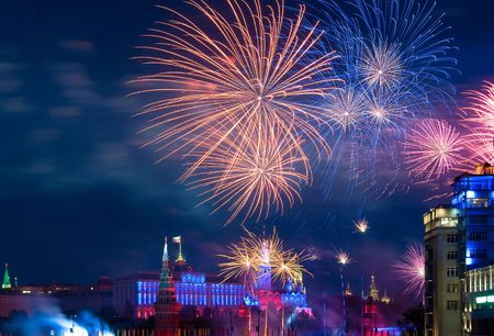 Firework over Moscow Stock Photo - 7026328