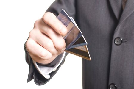 men's hand with credit card Stock Photo - 7127356