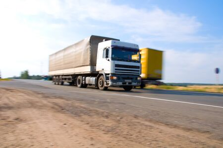 fast truck on the road photo