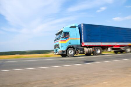 fast truck on the road Stock Photo - 7511753