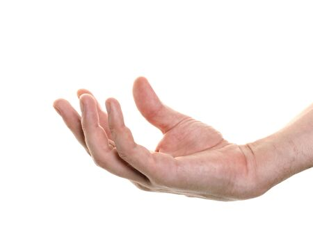 well shaped male hand holding something  photo