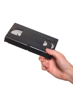 videocassette: de cintas de vídeo en mano