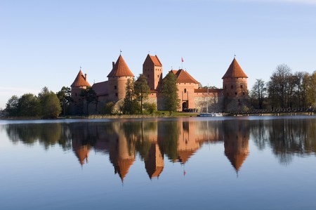 touristic: Island castle in Trakai,one of the most popular touristic destinations in Lithuania