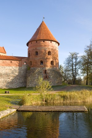 Island castle in Trakai,one of the most popular touristic destinations in Lithuania Stock Photo - 8096146
