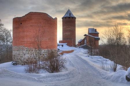 sigulda: HDR del castillo de Turaida en Latvia, Letonia