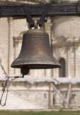 summon: Bell in the Blessed Virgin Mary Church in Dubrovitsy Stock Photo