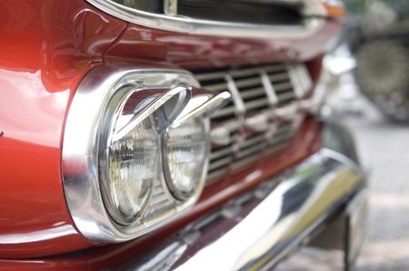 headlamp of old car