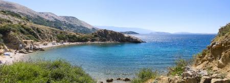 krk: Big panorama of Mediterranean sea  Croatia  Istria  Krk Stock Photo