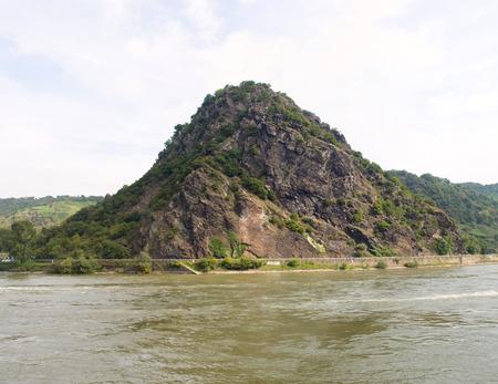 Famous rock at Rhine valley - Lorelei (Loreley), Germany.