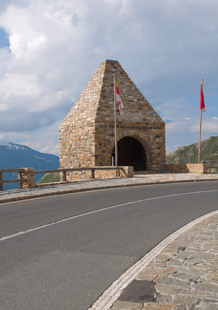 hochalpenstrasse: Monument alaong the road - National park Hohe Tauern (Austria)