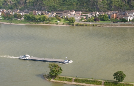 large barge floated down the Rhine photo
