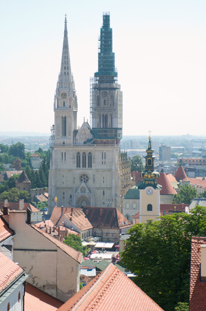 old part of Zagreb, Croatia  photo