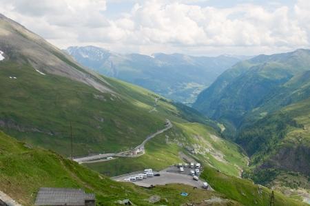 Amazing view to Austrian Alps  Stock Photo