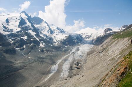 Glacier Pasterze. Austrian Alps  Stock Photo
